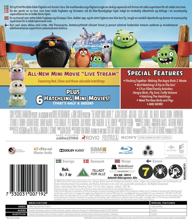 Angry Birds movie 2 (bluray)