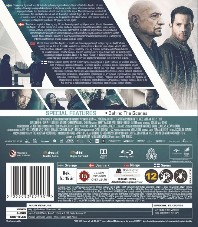 Spider in the web (bluray)