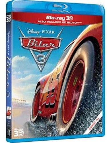 Disney Pixar klassiker 18 Bilar 3 3D+2D bluray