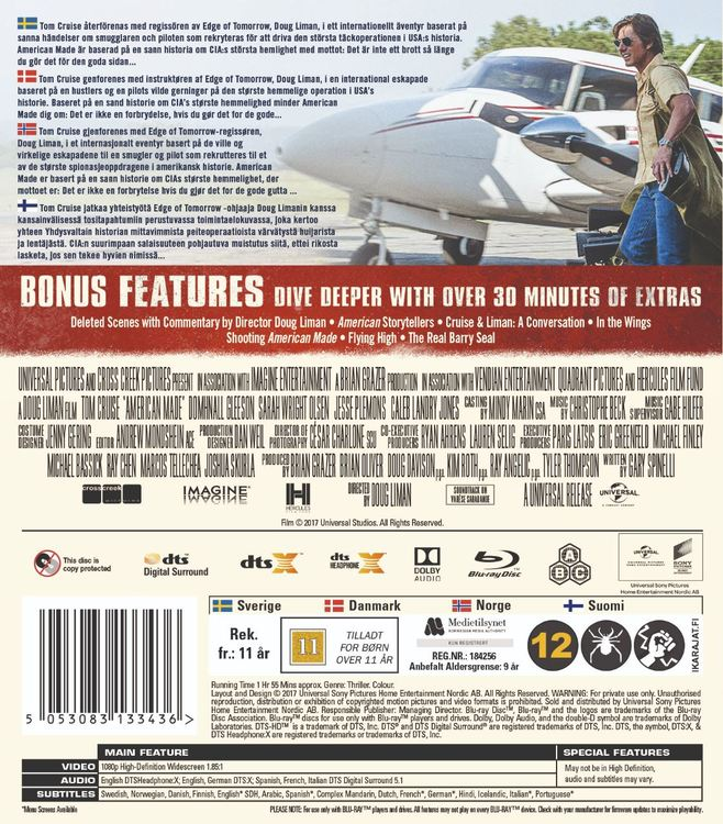 American Made Bluray