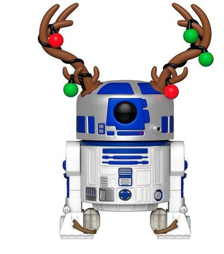 POP figur Star Wars Holiday R2-D2 utklädd med renhorn