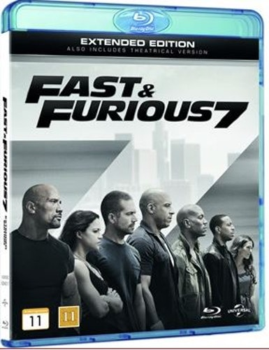 Fast and furious 7 bluray