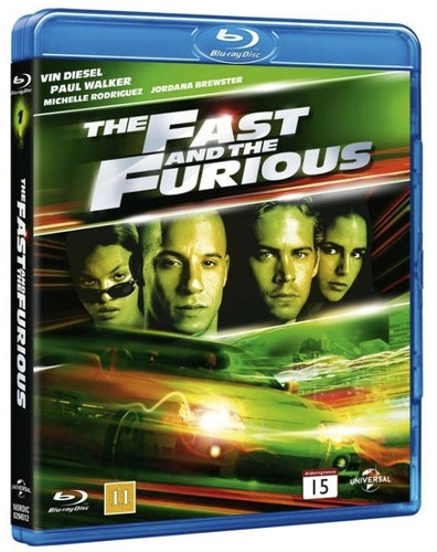 The Fast and the furious 1 bluray