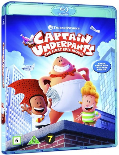 Captain Underpants/Kapten kalsong: The First Epic Movie Filmen bluray