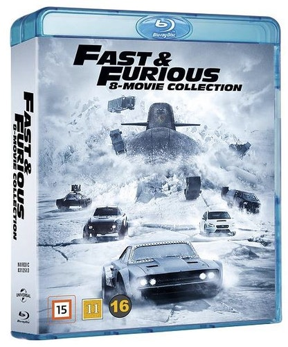 Fast & Furious - 8-Movie Collection bluray box