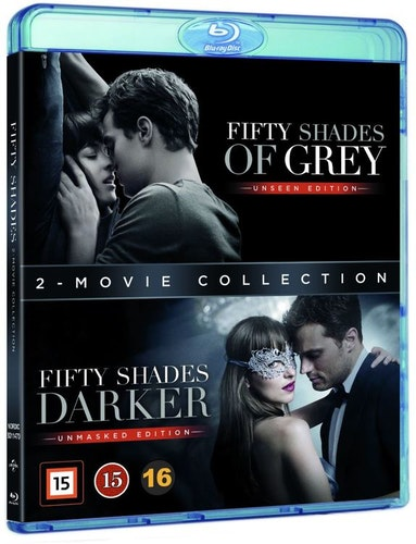 Fifty Shades 1+2 bluray box UTGÅENDE