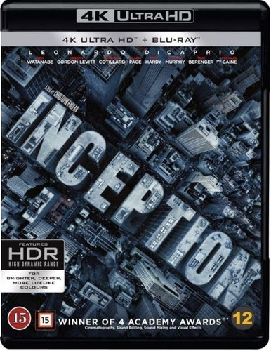 Inception (4K) (UHD) (3-disc)