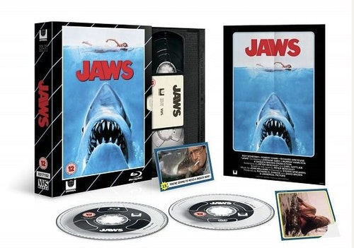 Jaws/Hajen - Limited Edition VHS Collection DVD + Bluray specialutgåva (import med svensk text)