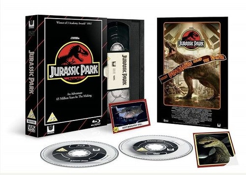 Jurassic Park - Limited Edition VHS Collection DVD + Bluray  specialutgåva (import med svensk text)