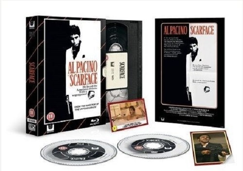 Scarface - Limited Edition VHS Collection DVD + Bluray specialutgåva (import)