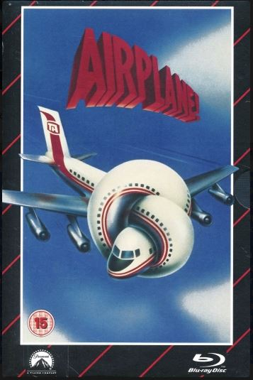 Airplane!/Titta vi flyger - Limited Edition VHS Collection DVD + Bluray specialutgåva (import)
