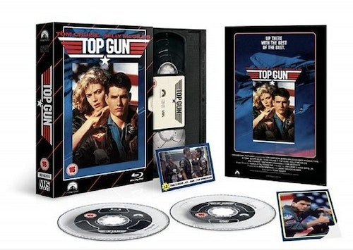 Top Gun - Limited Edition VHS Collection DVD + Bluray Specialutgåva (import med svensk text)