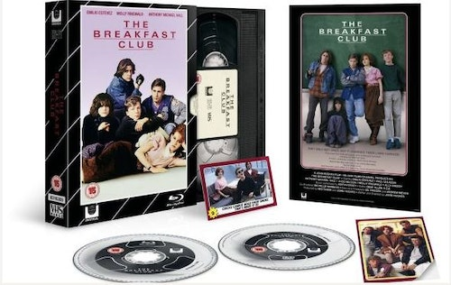 Breakfast Club - Limited Edition VHS Collection DVD + Bluray Specialutgåva (import med svensk text)