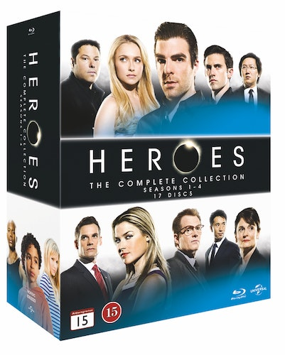 Heroes - Säsong 1-4 bluray