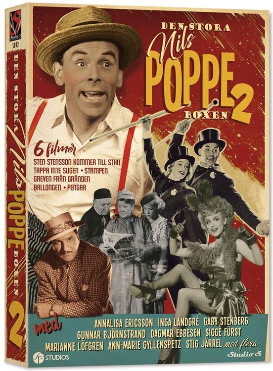 Den stora Nils Poppe-boxen Vol 2 (3-disc) DVD