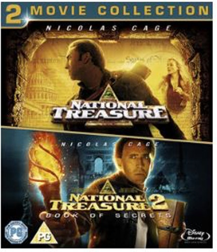 National Treasure 1+2 - 2-Movie Collection bluray (import med sv. text)