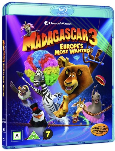 Madagascar 3 bluray
