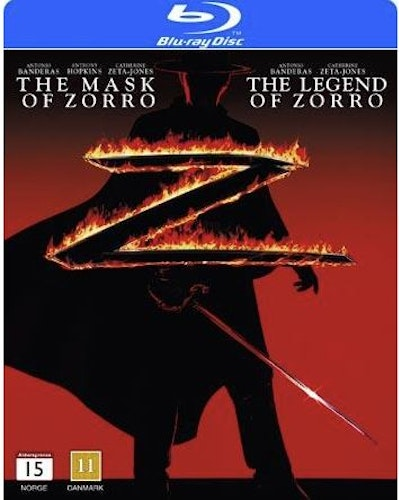 The Legend of the Zorro + the Mask of Zorro bluray