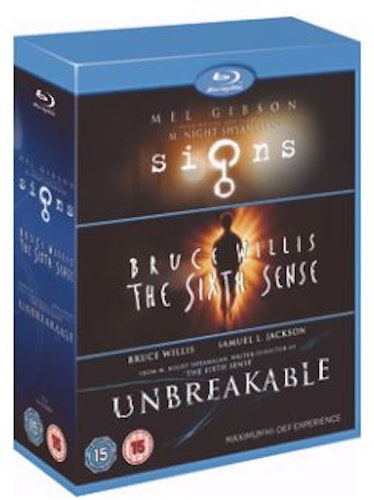 M Night Shyamalan - Signs / The Sixth Sense / Unbreakable Bluray (import)