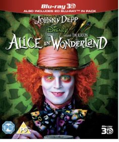 Alice In Wonderland 3D+2D Blu-Ray (import)