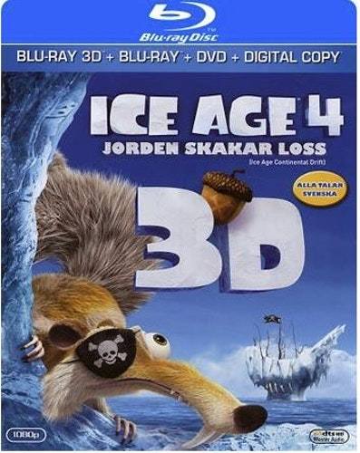 Ice Age 4: Jorden Skakar Loss (3D) bluray