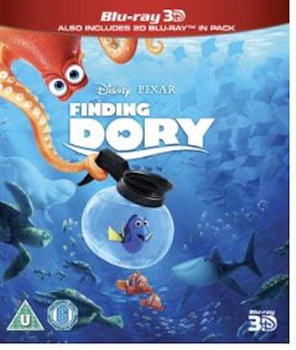 Hitta Doris 3D+2D Bluray import med svensk text och tal