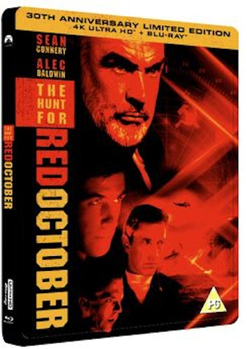 The Hunt For Red October Steelbook 4K Ultra HD + Blu-Ray  (import)
