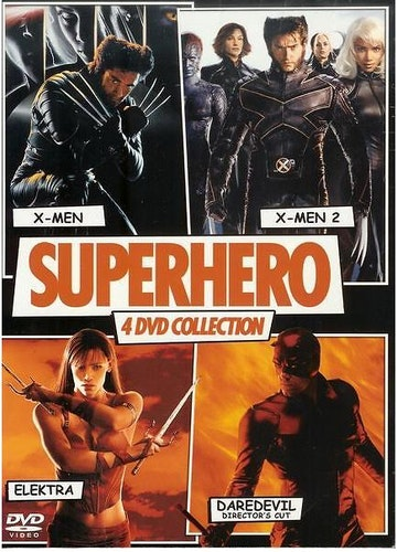 Superhero Collection: X-Men, X-Men 2, Elektra, Daredevil (DVD) beg