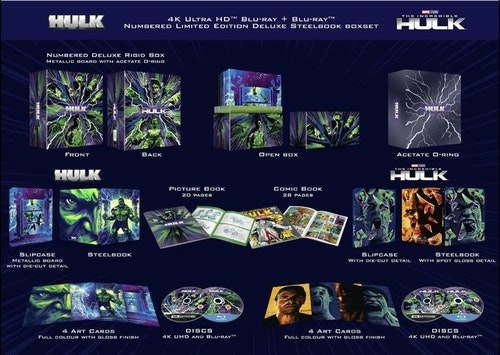 The Universal Hulk Collection - 4K Ultra HD Steelbook Box Set (import Sv. text)