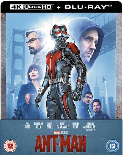 Ant-Man -  4K Ultra HD Steelbook (Includes 2D Blu-ray) import Sv. text