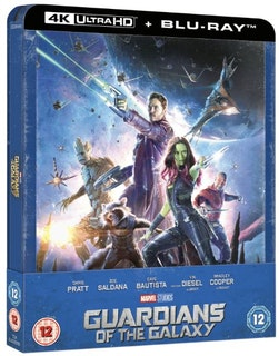 Guardians of the Galaxy - 4K Ultra HD Steelbook (Includes 2D Blu-ray) import Sv. text