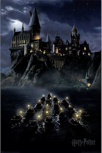 Poster Harry Potter - Hogwarts Boats affisch