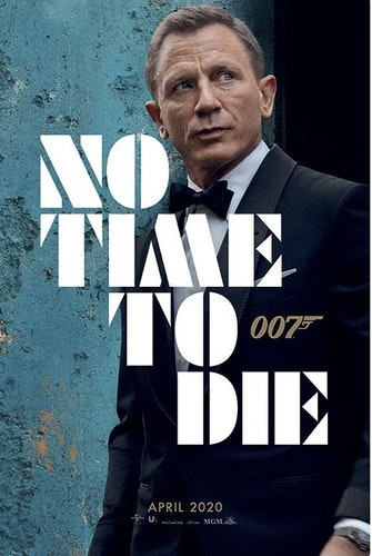 Poster James Bond - No Time To Die affisch