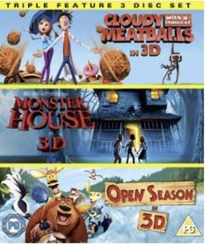 Det regnar köttbullar 3D + Monster House 3D + Boog & Elliot - 3D (import med svensk text och tal) bluray