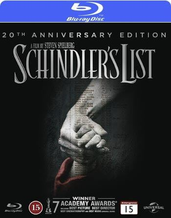 Schindler's List Anniversary Edition bluray