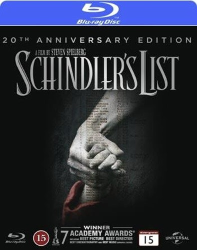 Schindler's List Anniversary Edition bluray