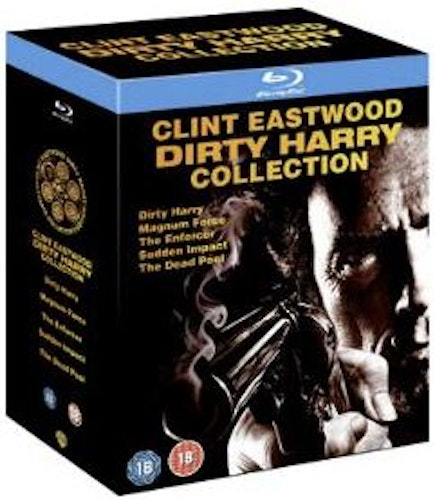 Clint Eastwood Dirty Harry Collection - Dirty Harry + Magnum Force + The Enforcer + Sudden Impact bluray (import Sv text)