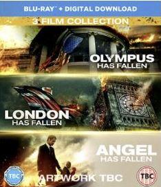 Olympus has fallen + London has fallen + Angel Has Fallen (import) box bluray