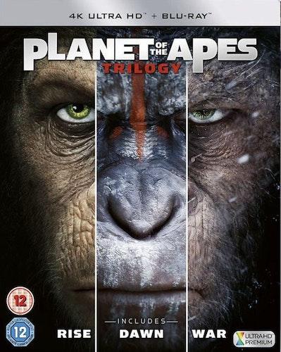 Planet Of The Apes - Trilogy (3 Filmer) 4K Ultra HD (import med svensk text)