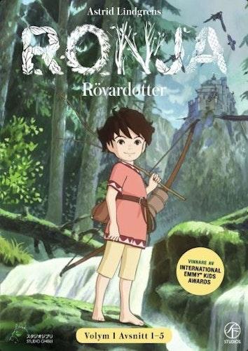 Ronja Rövardotter - TV-serien Vol 1 - Avsnitt 1-5 DVD