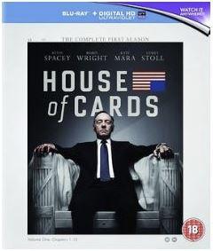 House Of Cards säsong 1 bluray (import med svensk text)