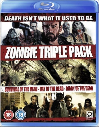 Zombie triple pack Survival Of The Dead+Day Of The Dead+Diary Of The Dead Blu-Ray (import)