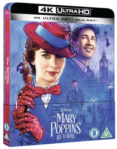 Mary Poppins Returns 4K Ultra HD (Includes Blu-ray) - Limited Edition SteelBook (import)