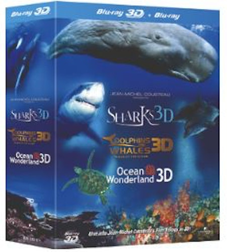 Jean-Michel Cousteau Collection - Sharks, Dolphins and Whales & Ocean Wonderland (Blu-ray 3D) (Import Sv.Text)