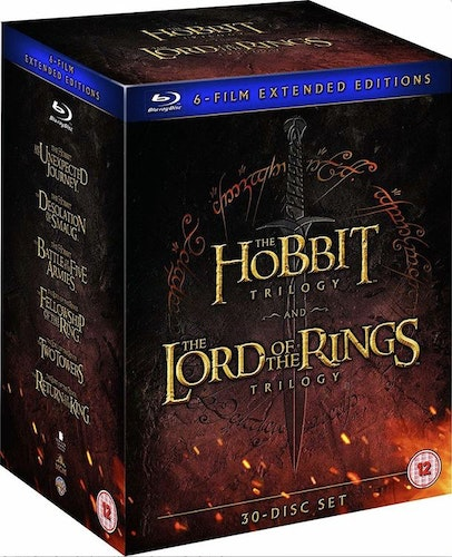 The Hobbit Trilogy & The Lord Of The Rings Trilogy - Extended Editions bluray (import)