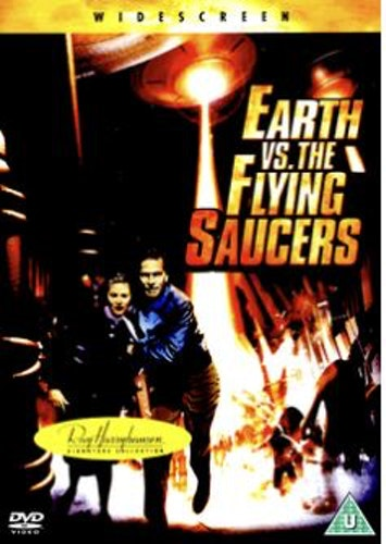 Anfall från rymden/Earth vs The Flying Saucers DVD  (Import Sv.Text)