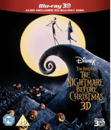 The Nightmare before christmas (Blu-ray 3D) (Import Sv.Text)