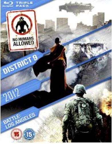 District 9 + 2012 + Battle - Los Angeles box Blu-Ray (import)