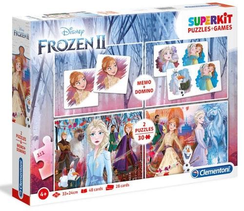 Superkit med memory, domino och pussel Disneys Frost 2 2x30 bitar