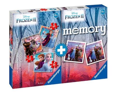 Multipack med memory och pussel Disneys Frost 2 25, 36 och 49 bitar